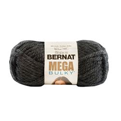 Bernat Mega Bulky Yarn 88042 Dark Grey Heather