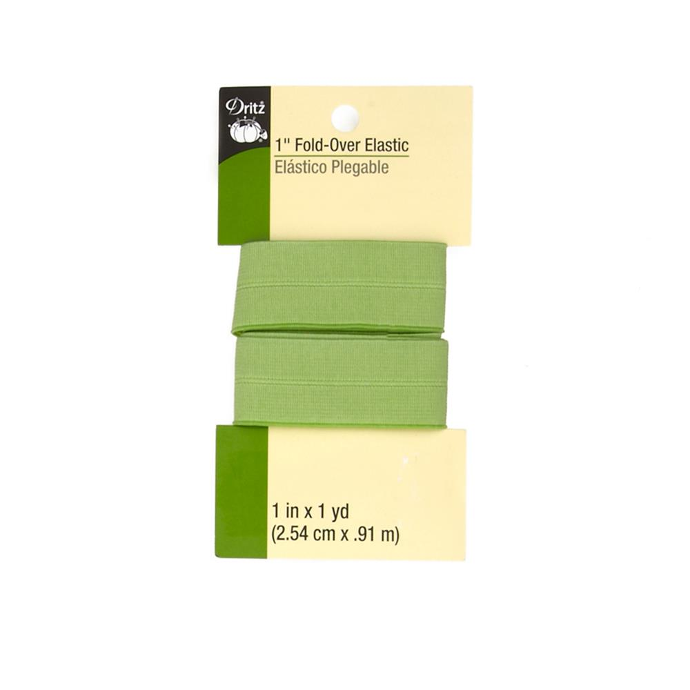 "Fold-Over Elastic 1""X1yd-Light Green"