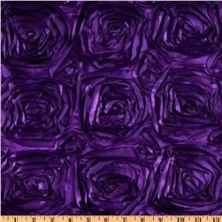 Splenda Satin Ribbon Rosette Plum