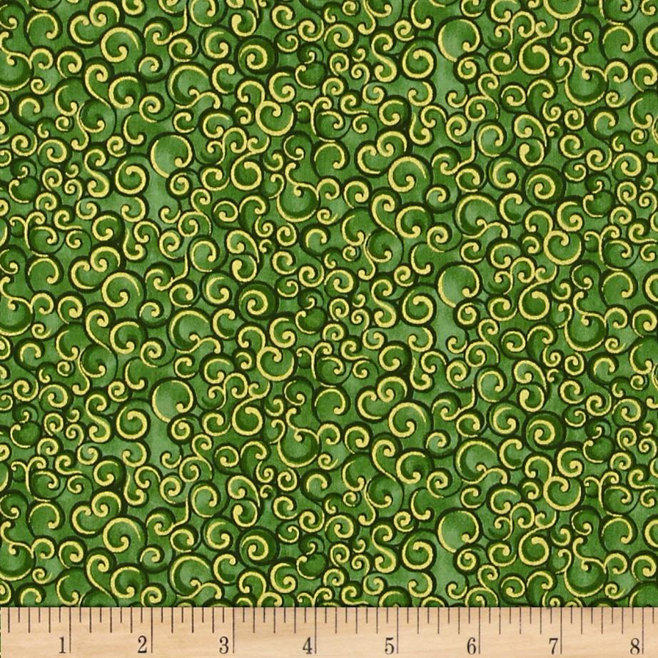Holiday Classics Metallic Swirl Green