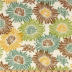 Heather Bailey Freshcut Graphic Mums Brown