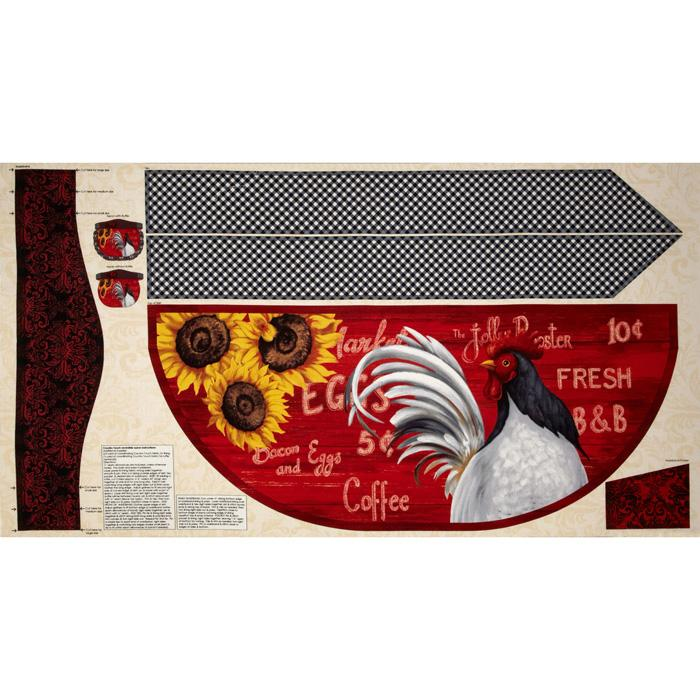 Country Touch Apron Panel Multi