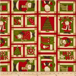 Ho Ho Christmas Patchwork Red