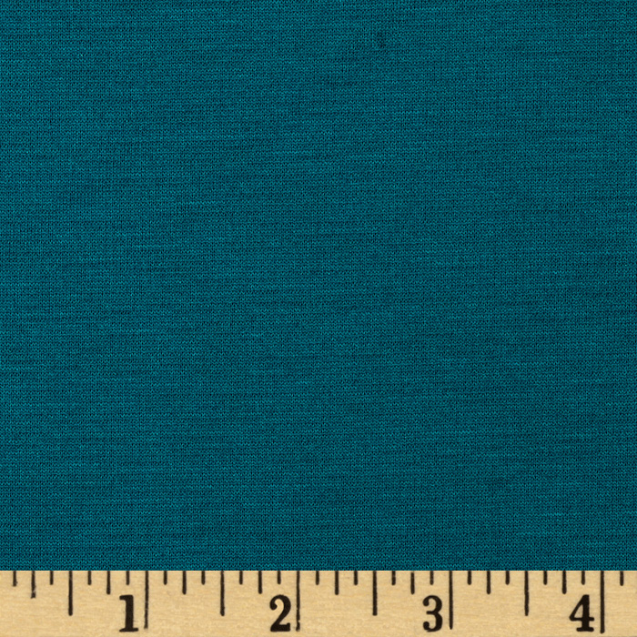 Ponte de Roma Double Knit Teal Fabric by Spechler-Vogel in USA