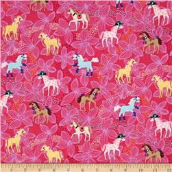 Michael Miller Novelties Pretty Ponies Pink