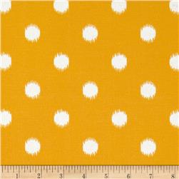 Premier Prints Indoor/Outdoor Ikat Dots Citrus Yellow Fabric