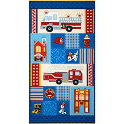 Firehouse Friends Panel Multi Fabric