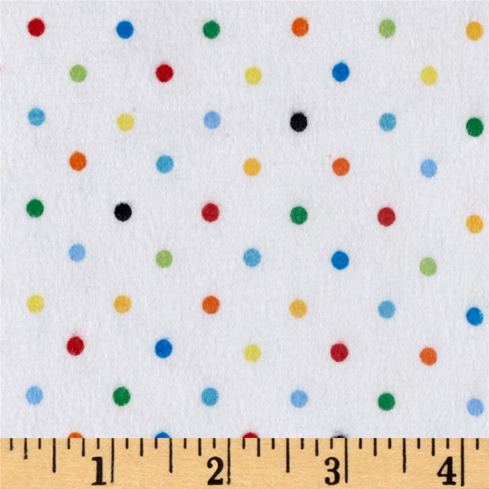 Zoo Mates Flannel Multi Dot White/Multi Fabric