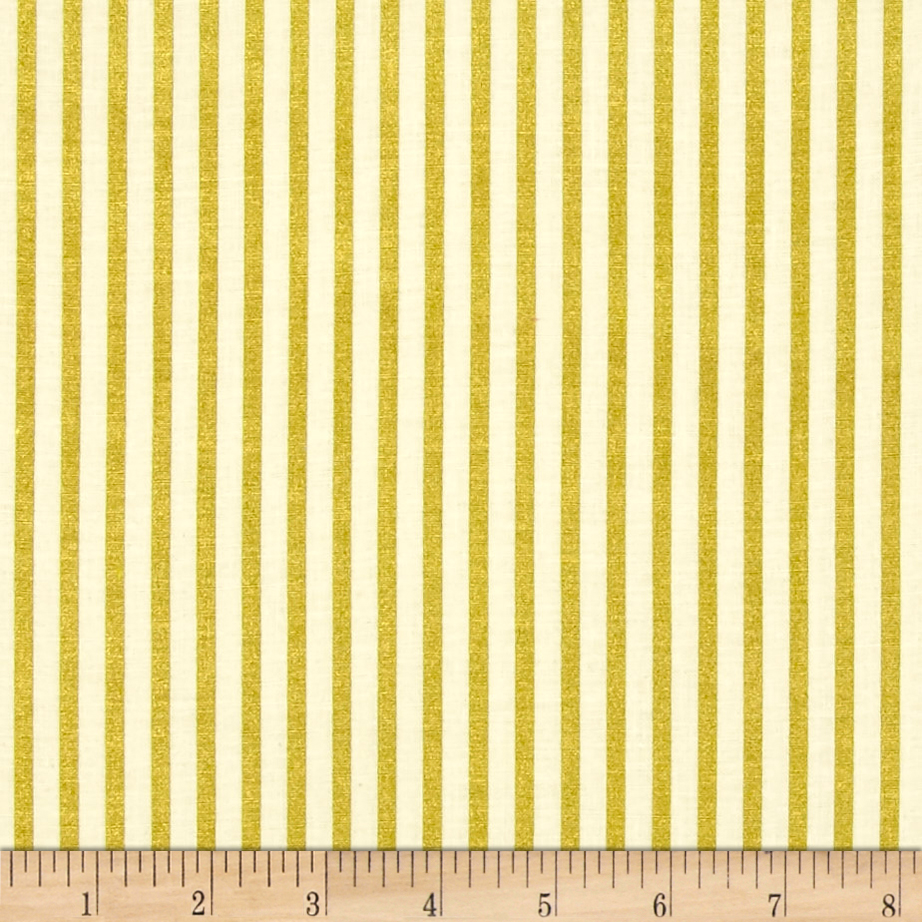Image of ADORNit Girls Gold Stripe Fabric