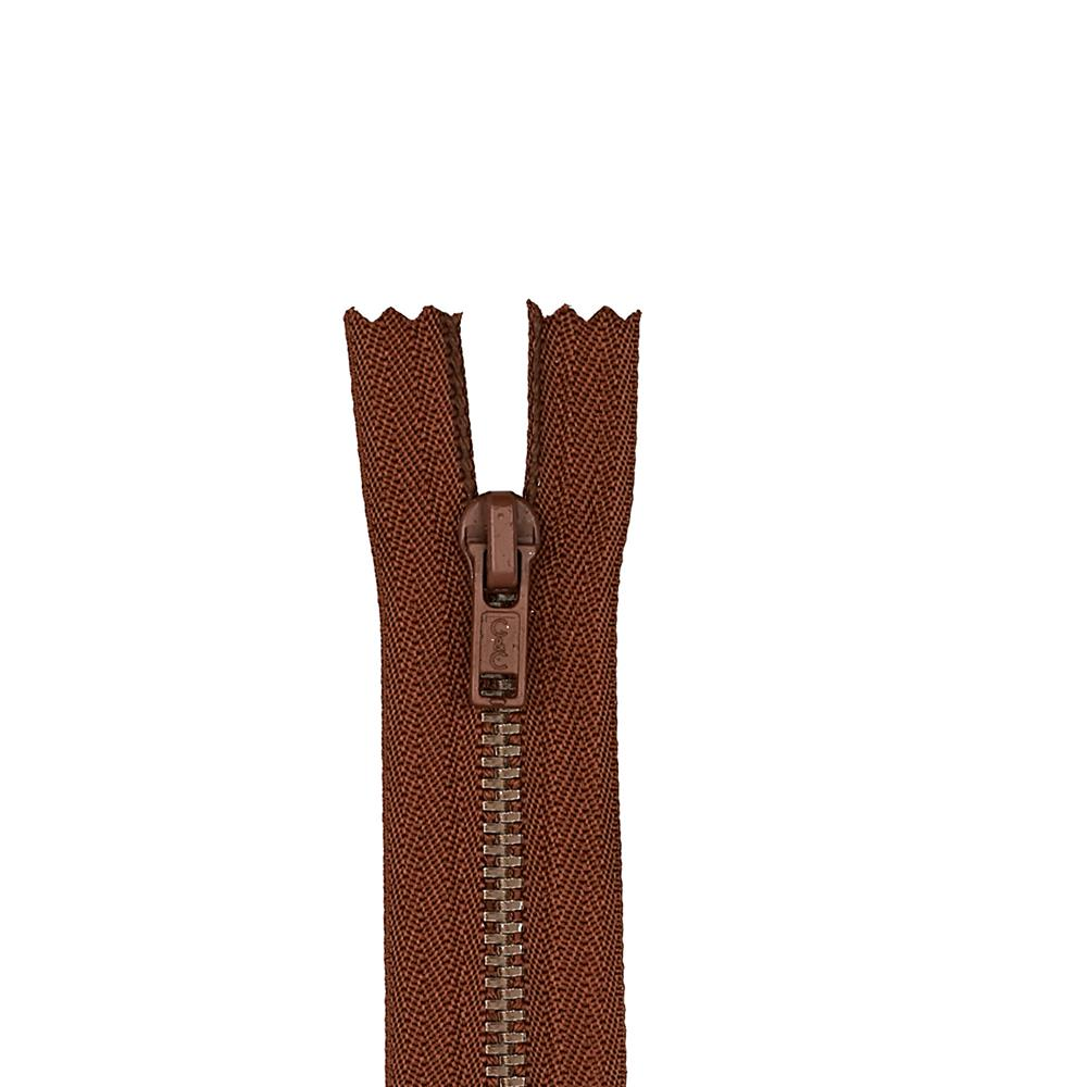 "Metal All Purpose Zipper 7"" London Tan"
