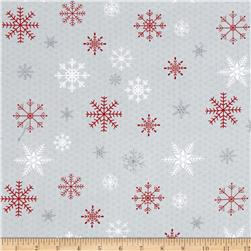 Joy, Love, Peace Snowflake Gray