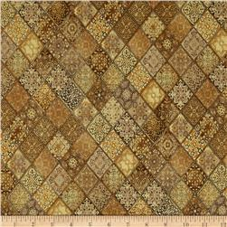 Heavenly Diagonal Filigree Patch Brown