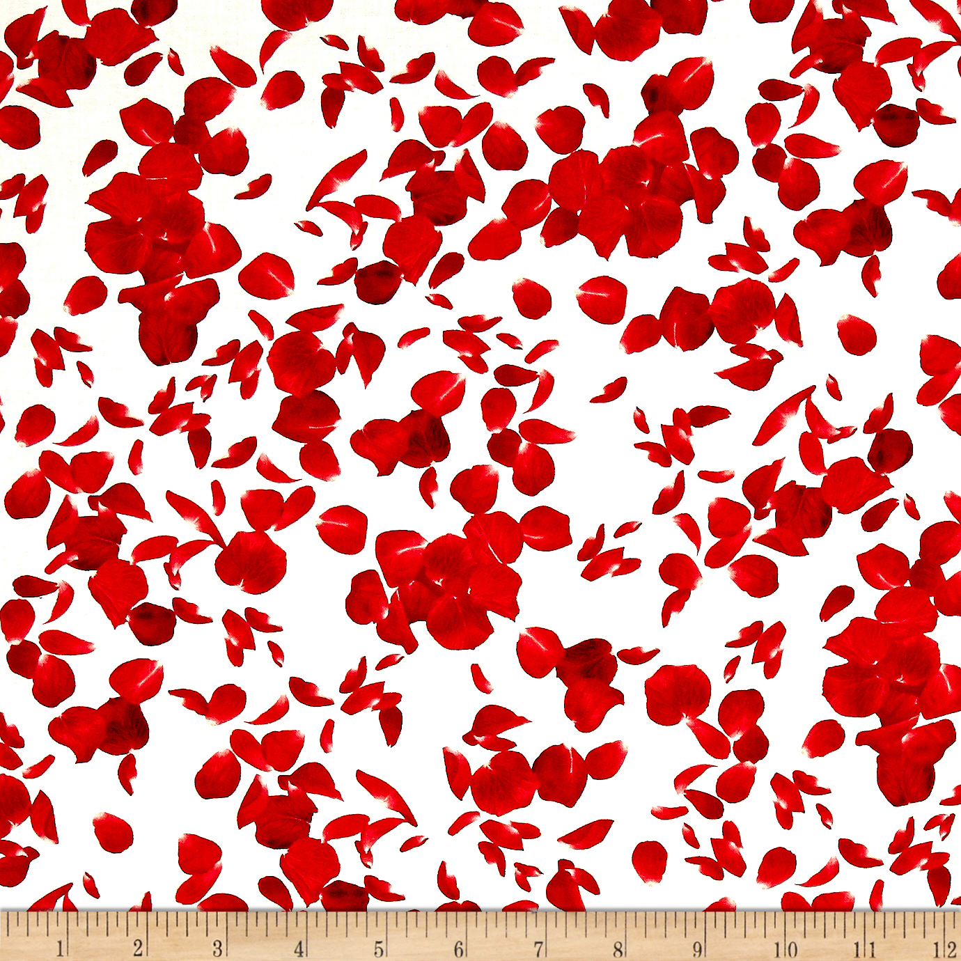 Timeless Treasures Glamour Falling Rose Petals Cream Fabric