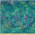 Timeless Treasures Tonga Batik Zanzibar Tropical Floral Teal