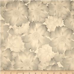 Robert Kaufman Imperial Collection Metallic Abstract Flowers Antique