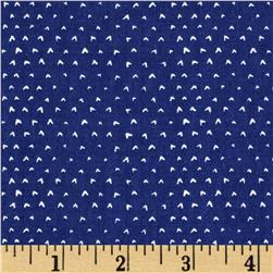 Dear Stella Wild Tiny Hearts Blue Fabric