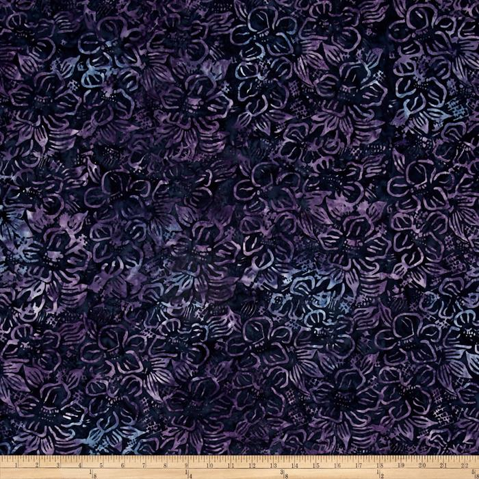 Timeless Treasures Tonga Batiks Lakeshore Flower Net Raisin