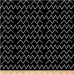 Cloud 9 Organic Lines & Shapes Canvas Angles Black