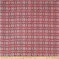 Indian Batik Montego Bay Patchwork  Wine /Silver