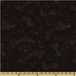 108'' Wide Essentials Quilt Backing Scroll Black Fabric