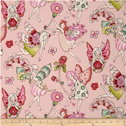 Everyday Eden Flower Fairies Pink/Berry Fabric