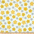 Robert Kaufman Cozy Cotton Flannel Daisy Flower Yellow