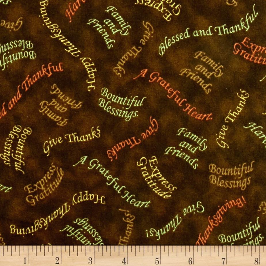 Bountiful Blessings Tossed Phrases Brown