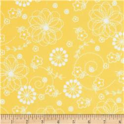 Kimberbell Little One Flannel Too! Doodles Yellow
