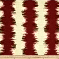 Premier Prints Jiri Stripe Natchez Red/Birch Fabric