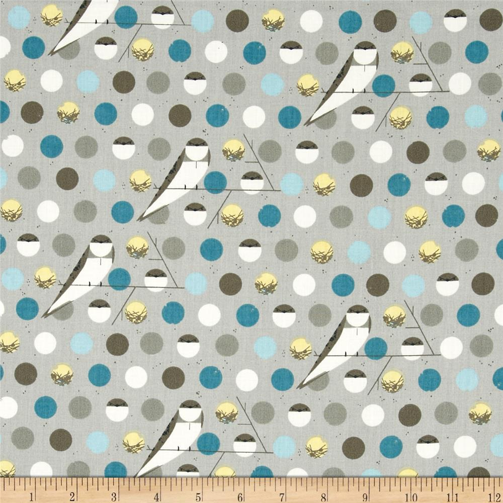 Birch Organic Charley Harper Bank Swallow Blue