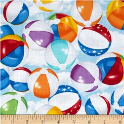 Timeless Treasures Beach Pass Beach Balls Multi