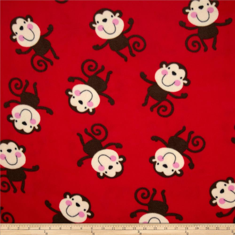 Fleece Monkeys Red