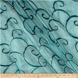 Ferial Organza Embroidery Teal