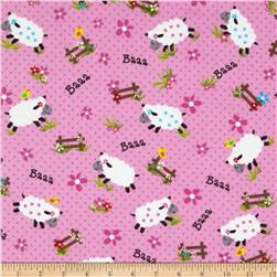Flannel Sheep Pink