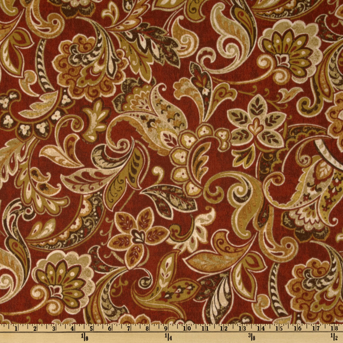 Maco Indoor/Outdoor Cashel Garnet Fabric