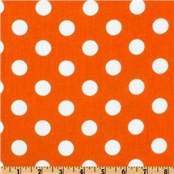 Forever Large Polka Dot Orange Fabric