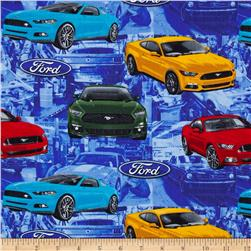 Ford Vintage Mustang Allover Multi Fabric