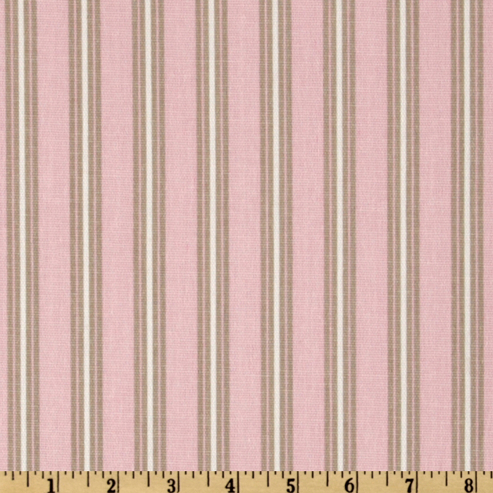 Premier Prints Trey Stripe Twill Bella Pink/Cozy Fabric