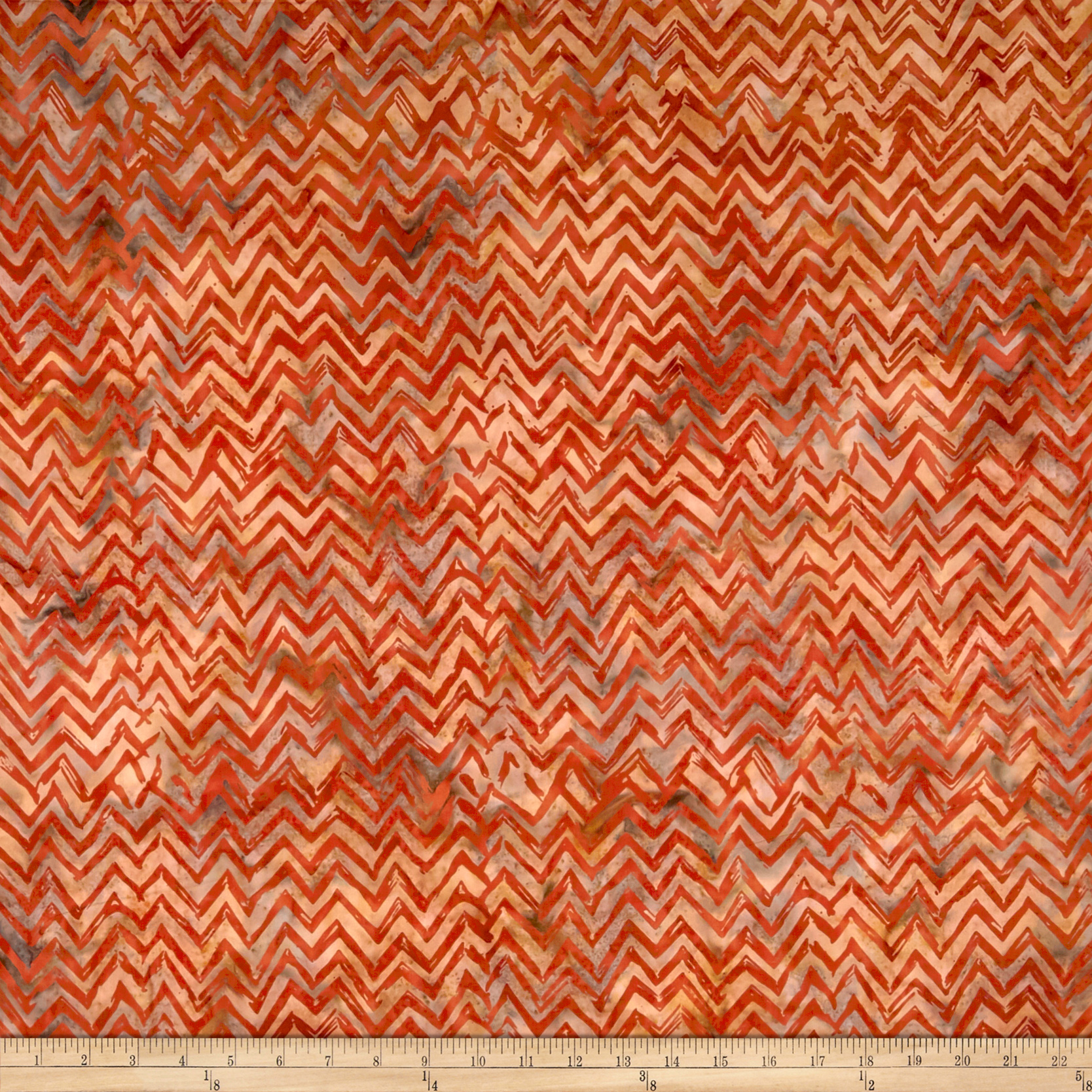 Anthology Batik Chevron Spice Fabric