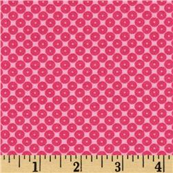 Dots Right Sequin Dot Hot Pink Fabric