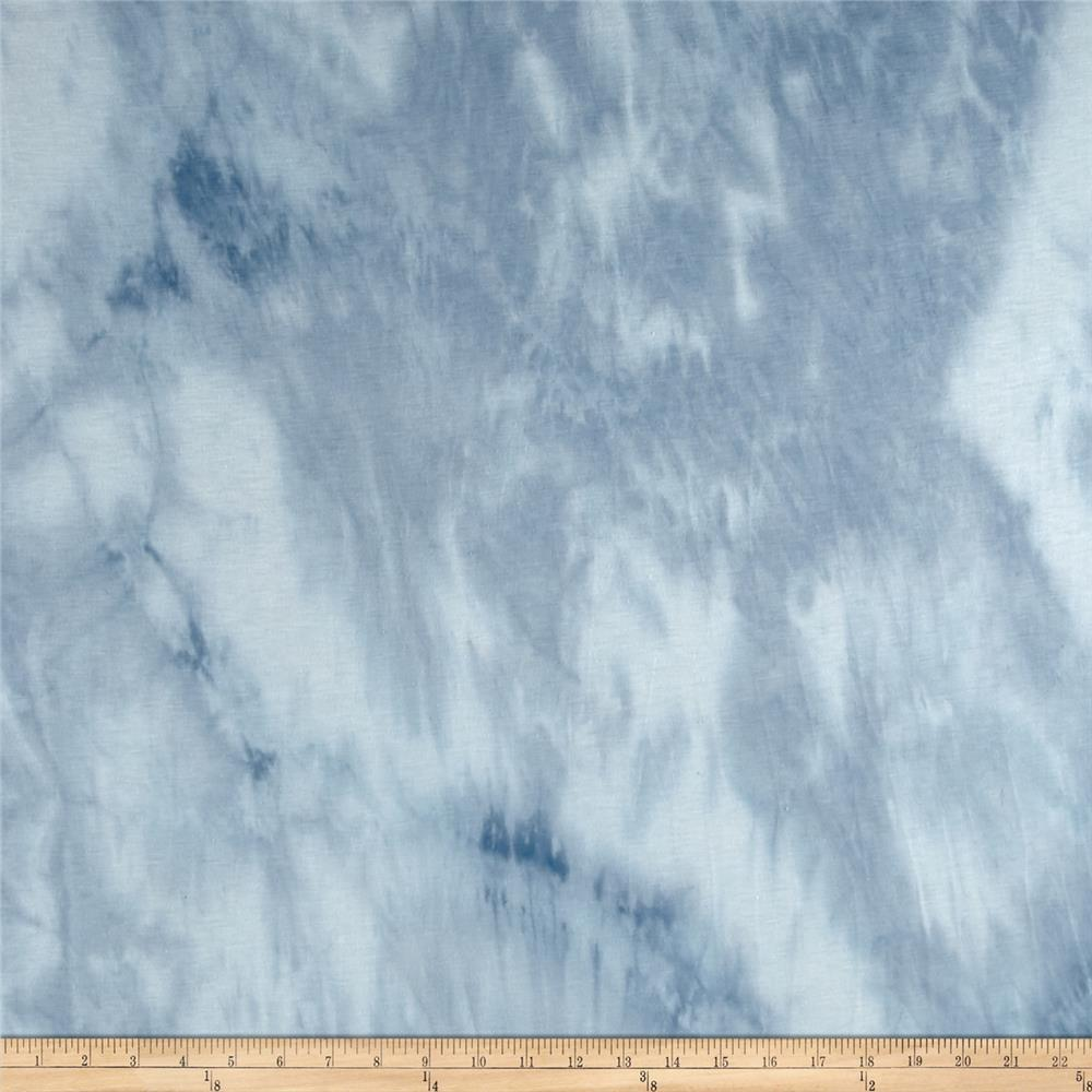 Jersey Knit Stratus Cloud Print Blue Grey