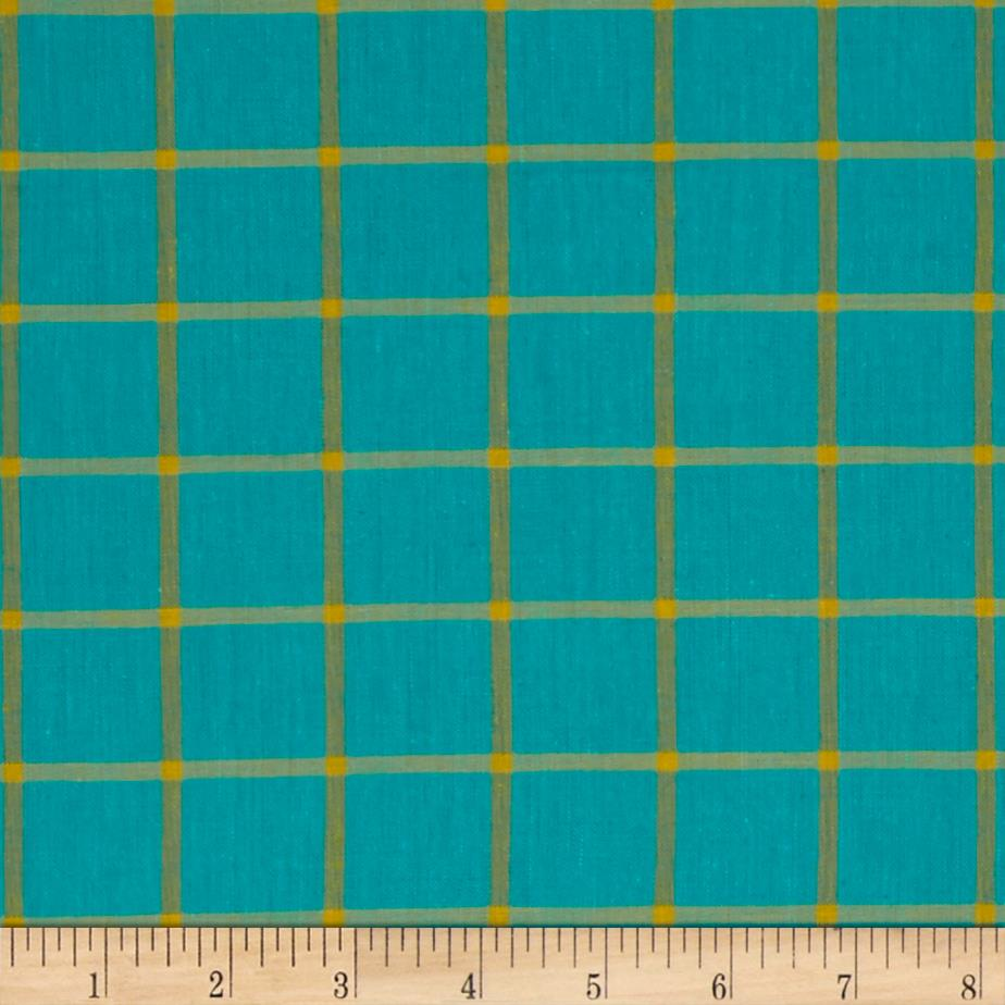 Cloud 9 Organic Yarn Dye Plaid Turquoise/Amber