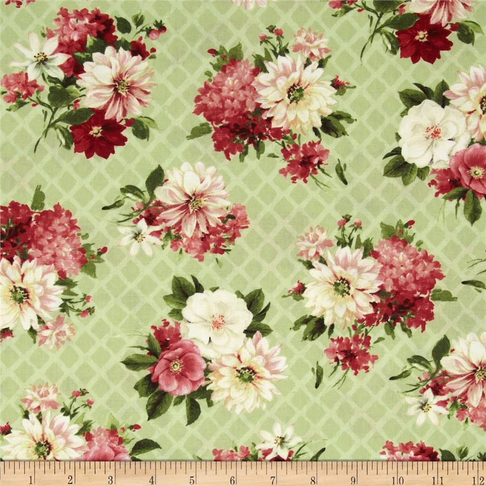 From Paris with Love Floral Allover Green