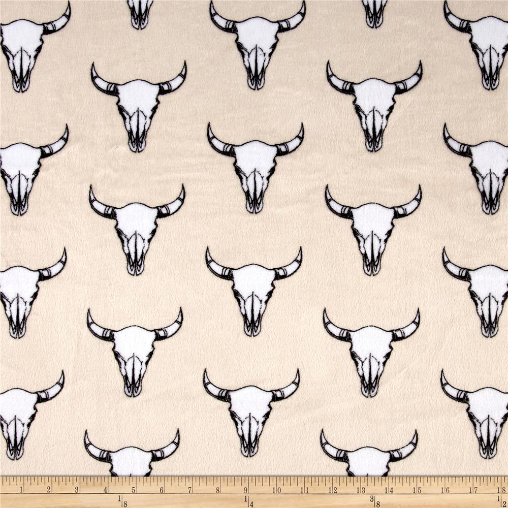 Shannon Minky Cuddle Prints Bull's Eye Beige