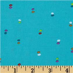 Michael Miller Melodies Double Dot Turquoise