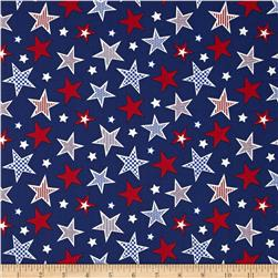 Let's Celebrate Large Stars Blue