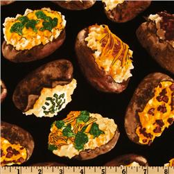 Timeless Treasures Got The Munchies? Loaded Potatoes Black