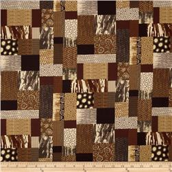 Abstract Patchwork Brown/Multi