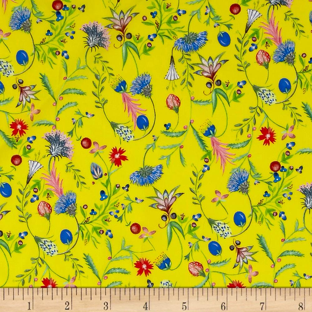 Liberty of London Tana Lawn Temptation Meadow Yellow/Pink/Blue