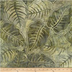 Tonga Batiks Cabana Leaves Moss Fabric